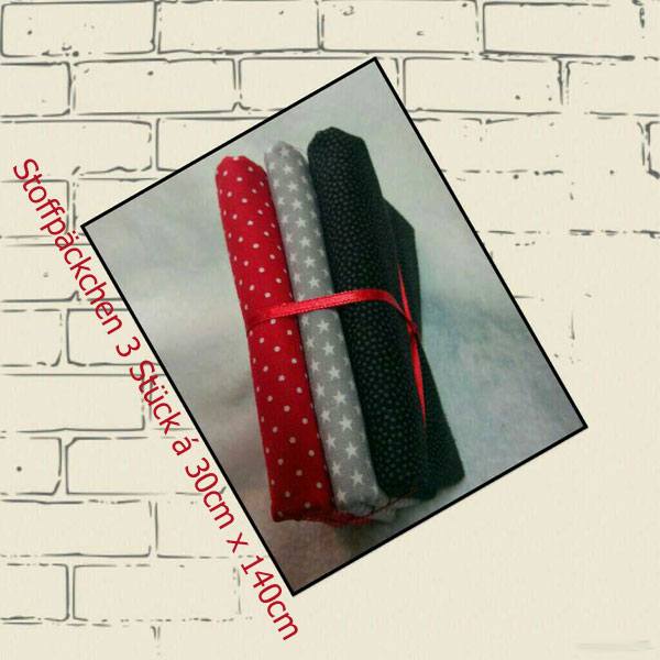 Stars meets Dots - red-grey-black