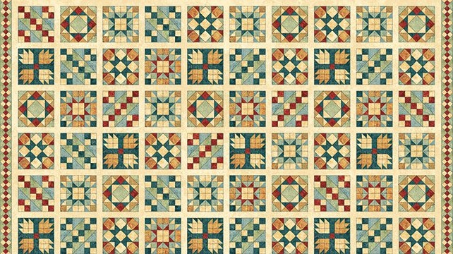 A Stitch in Time - Quilt Blocks - copper