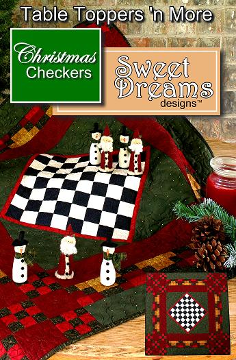 Christmas Checkers Table Topper