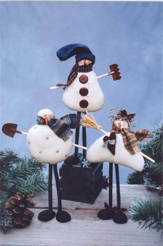 The Drifters - Three Poseable Snowman
