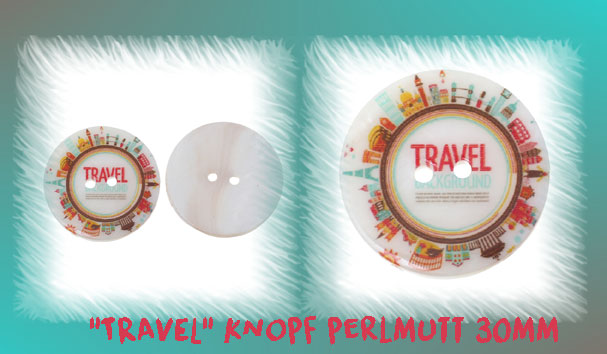 """Travel"" Knopf - perlmutt"
