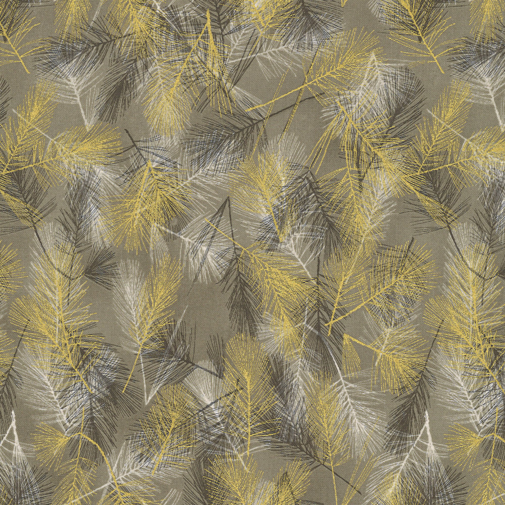 Christmas Wonders - Pin Branches - taupe-gold