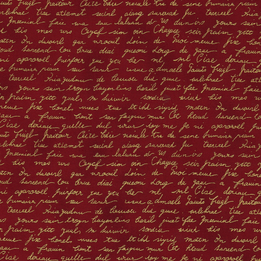 Christmas Wonders - Handwriting - red-gold