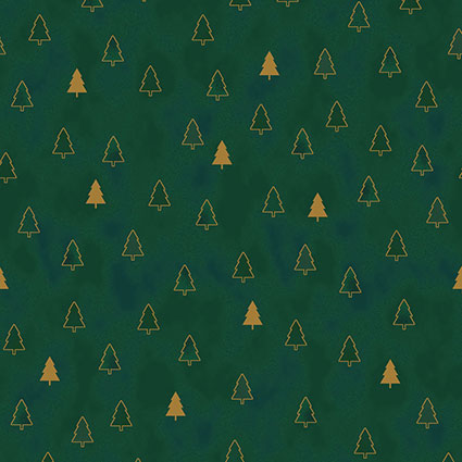 Christmas Wonders - Trees - green-gold