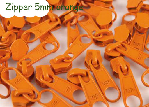 Zipper (Schieber) - orange