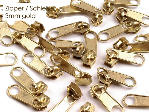 Zipper (Schieber) - gold